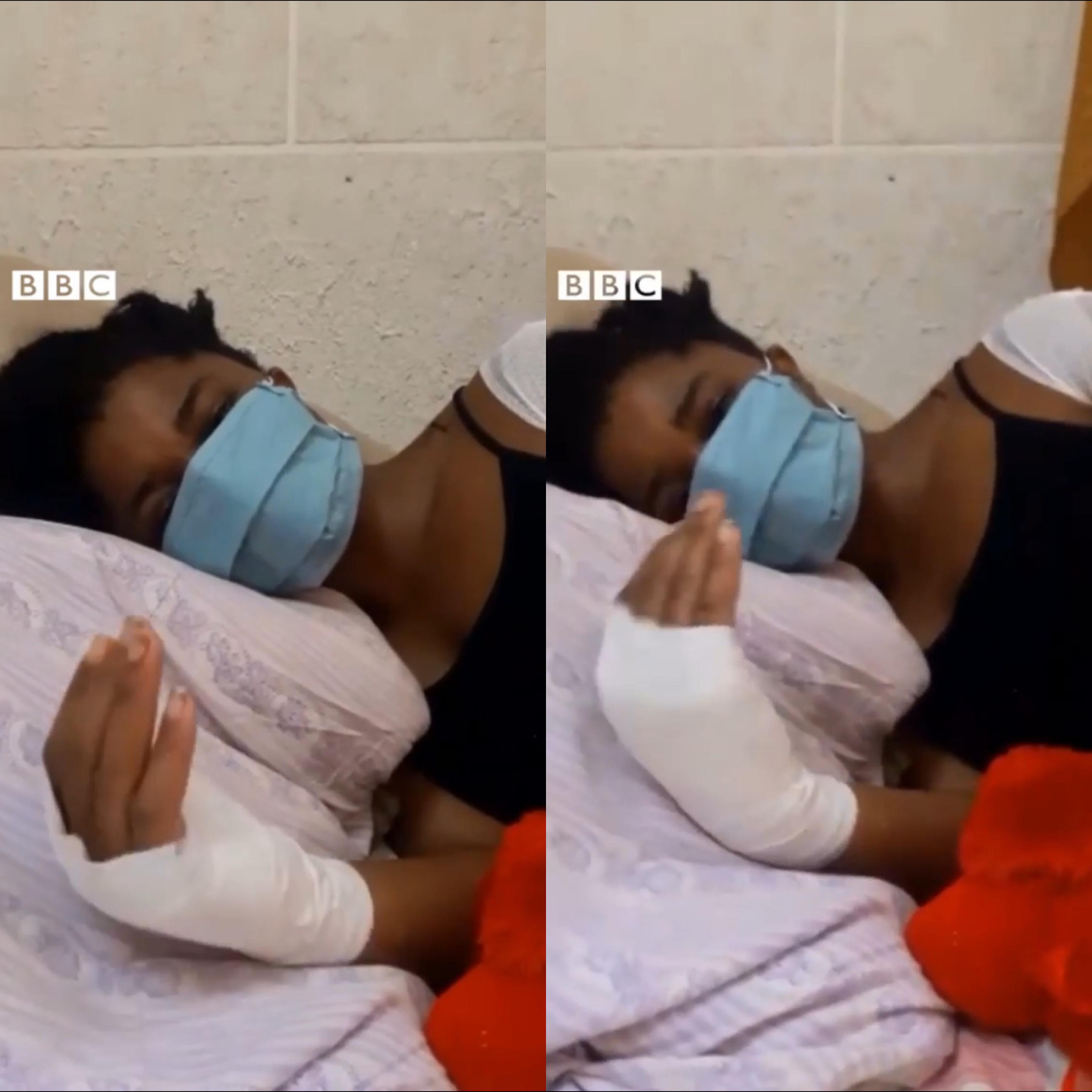 Injured Nigerian Survivor Of Beirut Explosion Calls For Help From Govt