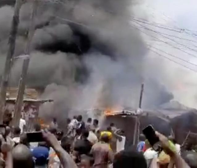 Fire Guts Foam Market In Mushin, Lagos
