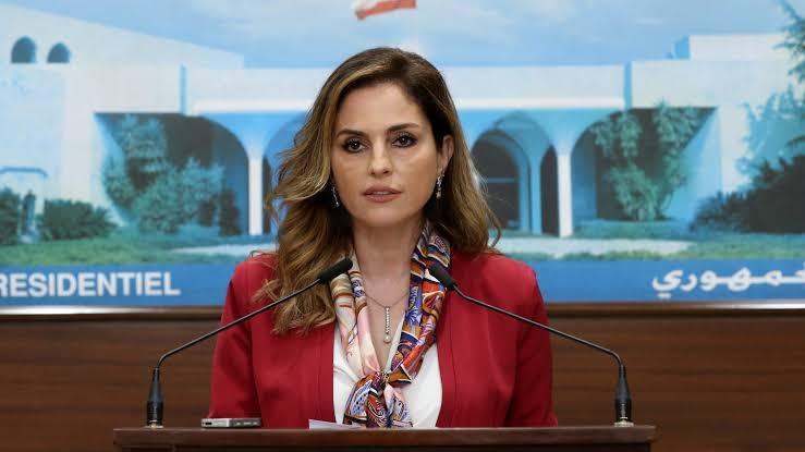 Lebanon's information minister Manal Abdel-Samad