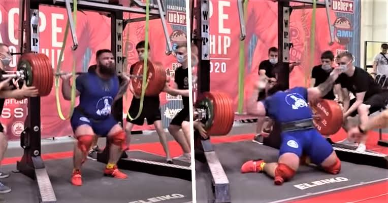 Russian Powerlifter Breaks Both Knees In Horrific Accident During Squat With 400kg Weight