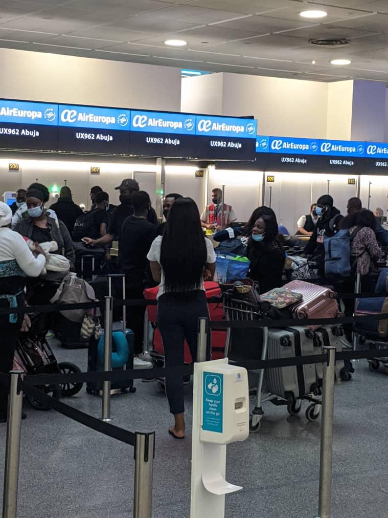 Evacuated Nigerians