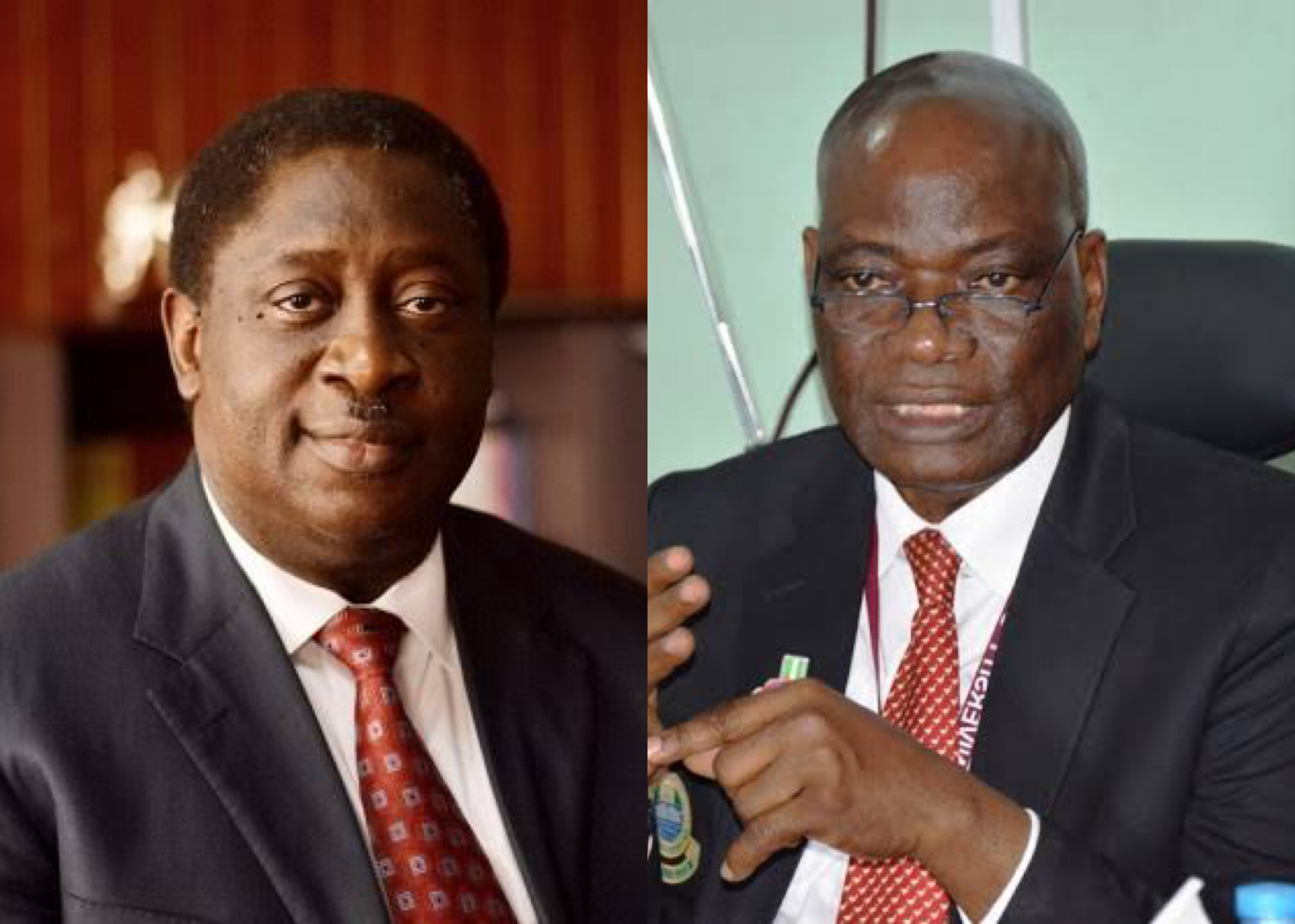 L-R: Pro-Chancellor of the University of Lagos, Dr. Wale Babalakin and UNILAG vice chancellor Prof. Oluwatoyin Ogundipe