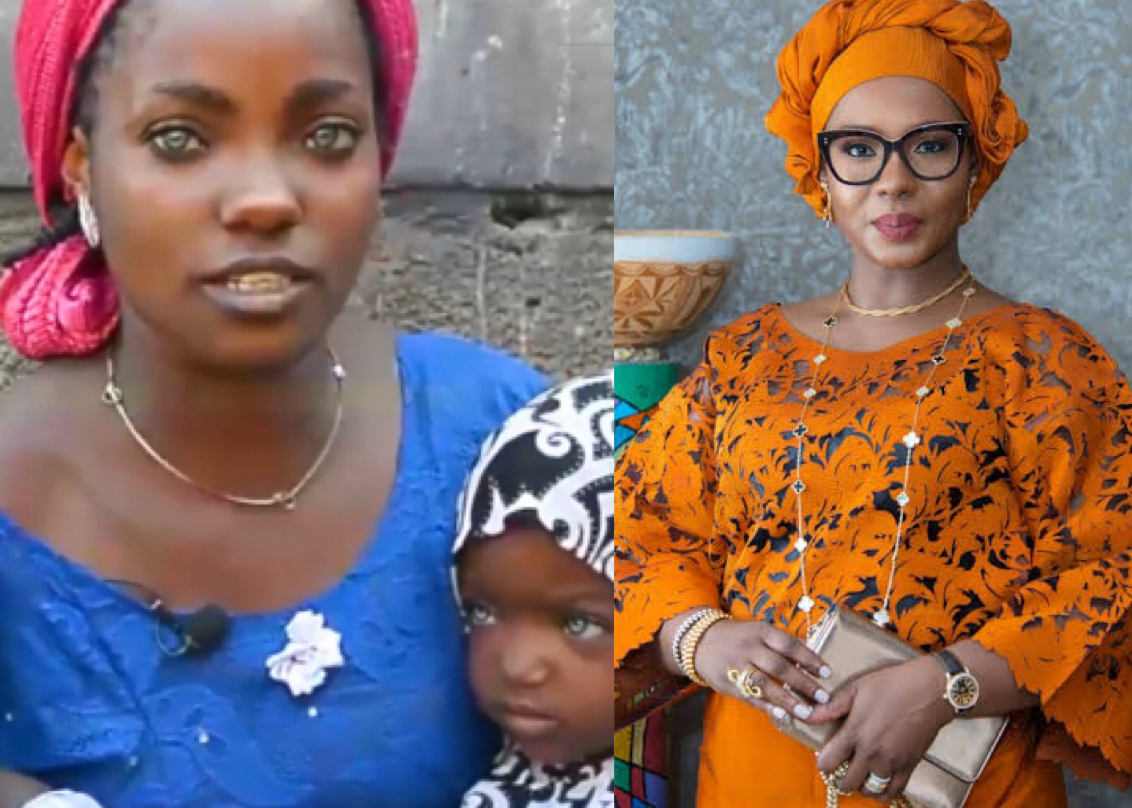 Kwara Gov's Wife Offers To Help Risikat, Blue-Eyed Mom And Daughters