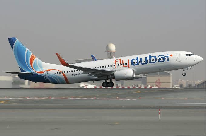 FlyDubai airplane