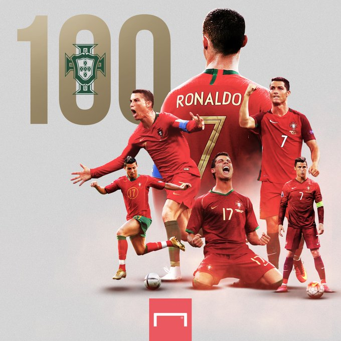 Cristiano Ronaldo Becomes First European Player To Score 100 International Goals