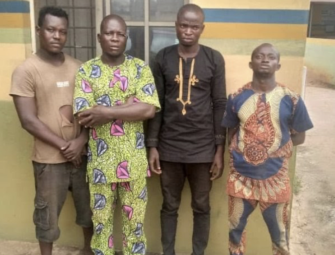Four Men Arrested For Allegedly Beating Policeman To Death In Ogun