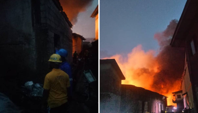 Fire Outbreak At Iddo Bus Terminal
